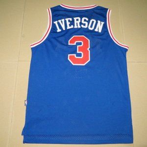 Men's Philadelphia 76ers Iverson blue Jersey